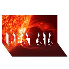 Solar Flare 1 Best Sis 3d Greeting Card (8x4)