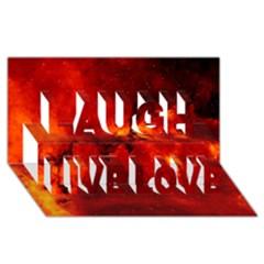 Rosette Nebula 2 Laugh Live Love 3d Greeting Card (8x4)  by trendistuff