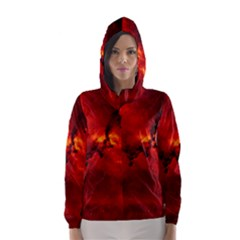 Rosette Nebula 2 Hooded Wind Breaker (women) by trendistuff