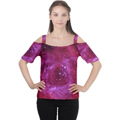 Rosette Nebula 1 Women s Cutout Shoulder Tee by trendistuff