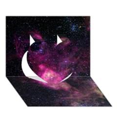 Purple Clouds Heart 3d Greeting Card (7x5)  by trendistuff