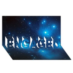 Pleiades Engaged 3d Greeting Card (8x4)
