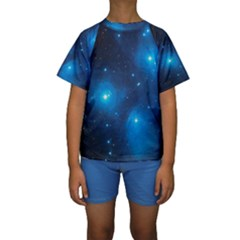 Pleiades Kid s Short Sleeve Swimwear by trendistuff