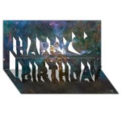Mystic Mountain Happy Birthday 3d Greeting Card (8x4)