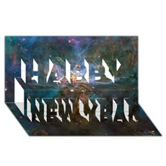 Mystic Mountain Happy New Year 3d Greeting Card (8x4)