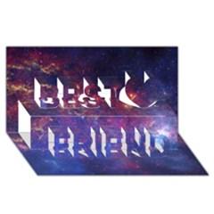 Milky Way Center Best Friends 3d Greeting Card (8x4)  by trendistuff