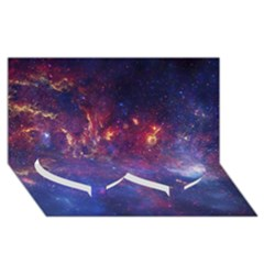 Milky Way Center Twin Heart Bottom 3d Greeting Card (8x4)  by trendistuff