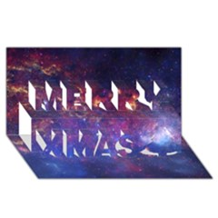 Milky Way Center Merry Xmas 3d Greeting Card (8x4)