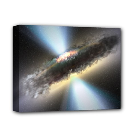 Hidden Black Hole Deluxe Canvas 14  X 11  by trendistuff