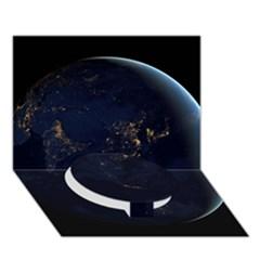 Global Night Circle Bottom 3d Greeting Card (7x5)  by trendistuff