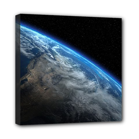 Earth Orbit Mini Canvas 8  X 8  by trendistuff