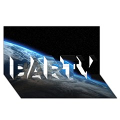 Earth Orbit Party 3d Greeting Card (8x4)  by trendistuff