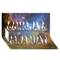 Eagle Nebula Congrats Graduate 3d Greeting Card (8x4)