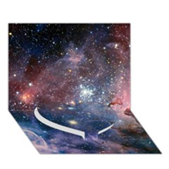 Carina Nebula Heart Bottom 3d Greeting Card (7x5)