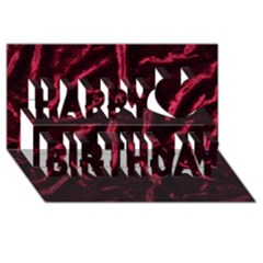 Luxury Claret Design Happy Birthday 3d Greeting Card (8x4)  by Costasonlineshop