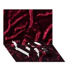 Luxury Claret Design Love Bottom 3d Greeting Card (7x5)