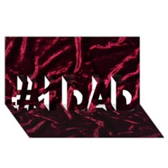 Luxury Claret Design #1 Dad 3d Greeting Card (8x4)  by Costasonlineshop