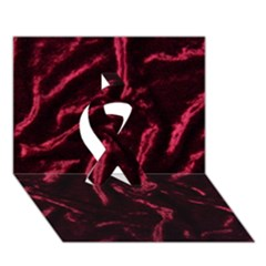 Luxury Claret Design Ribbon 3d Greeting Card (7x5)  by Costasonlineshop