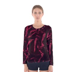 Luxury Claret Design Women s Long Sleeve T Shirts by Costasonlineshop