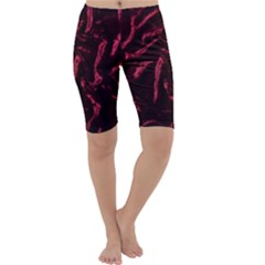 Luxury Claret Design Cropped Leggings by Costasonlineshop