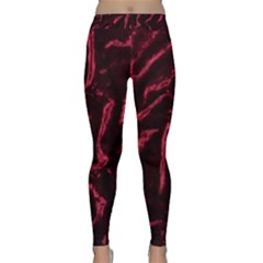 Luxury Claret Design Yoga Leggings by Costasonlineshop