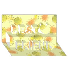Shabby Floral 1 Best Friends 3d Greeting Card (8x4)  by MoreColorsinLife