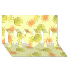 Shabby Floral 1 Mom 3d Greeting Card (8x4)