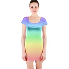 Rainbow Short Sleeve Bodycon Dress