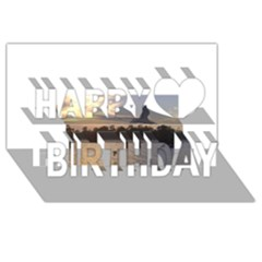 Intercoastal Seagulls 4 Happy Birthday 3d Greeting Card (8x4)