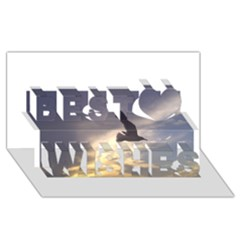 Seagull 1 Best Wish 3d Greeting Card (8x4)
