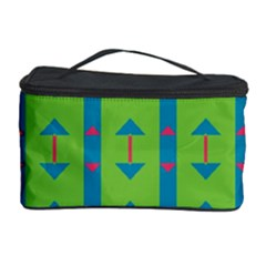 Arrows And Stripes Pattern Cosmetic Storage Case by LalyLauraFLM