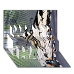 Butterfly 1 Work Hard 3d Greeting Card (7x5)