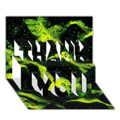 Green Northern Lights Thank You 3d Greeting Card (7x5)