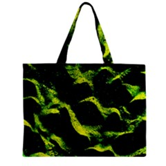 Green Northern Lights Zipper Tiny Tote Bags