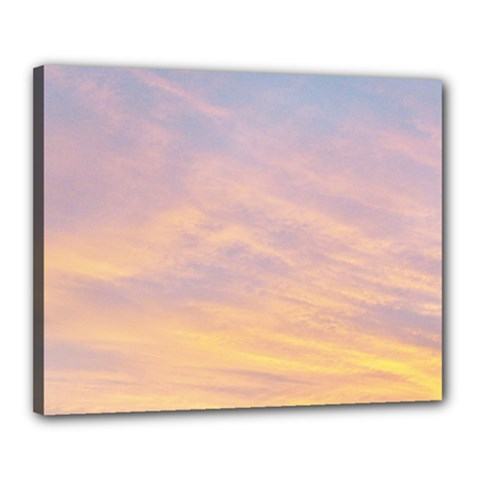 Yellow Blue Pastel Sky Canvas 20  X 16