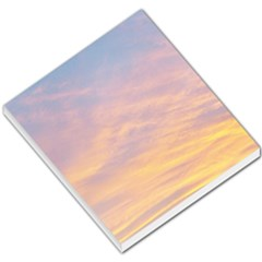 Yellow Blue Pastel Sky Small Memo Pads by Costasonlineshop