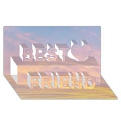 Yellow Blue Pastel Sky Best Friends 3d Greeting Card (8x4)  by Costasonlineshop