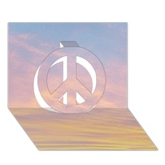 Yellow Blue Pastel Sky Peace Sign 3d Greeting Card (7x5)  by Costasonlineshop