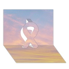 Yellow Blue Pastel Sky Ribbon 3d Greeting Card (7x5)