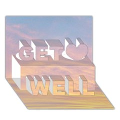 Yellow Blue Pastel Sky Get Well 3d Greeting Card (7x5)  by Costasonlineshop