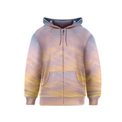 Yellow Blue Pastel Sky Kids Zipper Hoodies