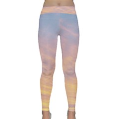 Yellow Blue Pastel Sky Yoga Leggings