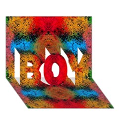 Colorful Goa   Painting Boy 3d Greeting Card (7x5)