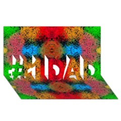 Colorful Goa   Painting #1 Dad 3d Greeting Card (8x4)  by Costasonlineshop