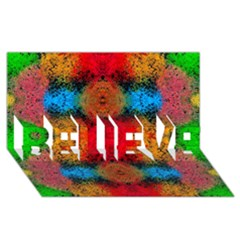 Colorful Goa   Painting Believe 3d Greeting Card (8x4)  by Costasonlineshop