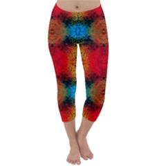 Colorful Goa   Painting Capri Winter Leggings  by Costasonlineshop