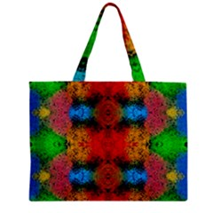 Colorful Goa   Painting Zipper Tiny Tote Bags by Costasonlineshop