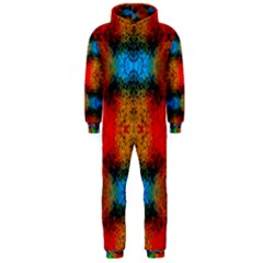 Colorful Goa   Painting Hooded Jumpsuit (Men)  by Costasonlineshop