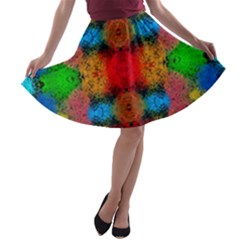 Colorful Goa   Painting A-line Skater Skirt by Costasonlineshop