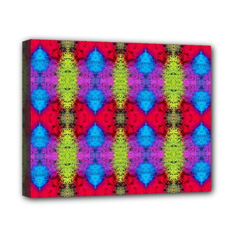 Colorful Painting Goa Pattern Canvas 10  X 8  by Costasonlineshop